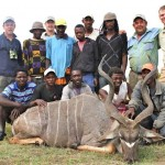 Kudu trophy Jeremy and staff 20121129