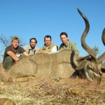 Kudu trophy with Ricus and group 20120909