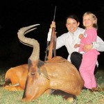 Marduett and daughter with Red Hartebeest 20120413